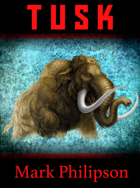 Cover art for Tusk showing a rampaging mammoth.