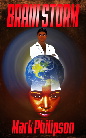 Cover art for Brain Storm showing a woman and man in time zone.